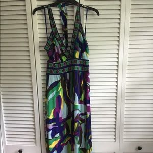 BCBG long halter dress